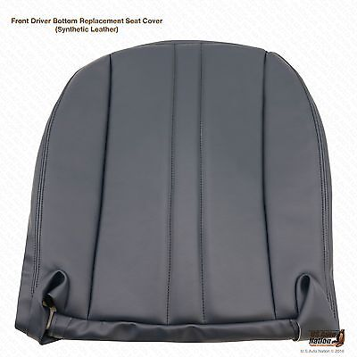 1997-2002 Chevy Express 1500 2500 3500 Driver Bottom Vinyl Seat Cover Blue