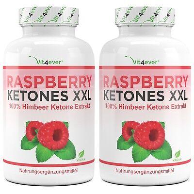 2x Raspberry Ketone XXL 1000 mg = 500 Kapseln Fatburner Stoffwechsel Abnehmen