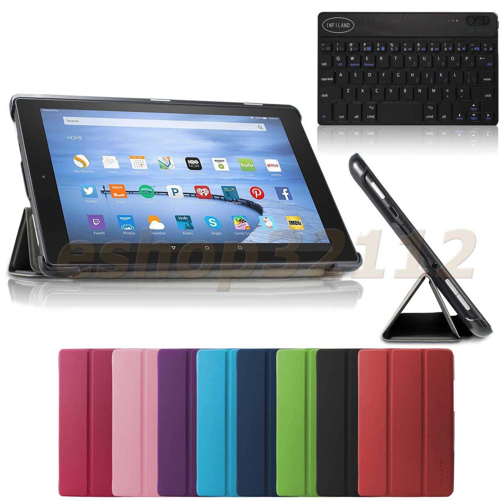 Tri-fold Slim Smart Case Cover For Amazon Kindle Fire Hd ...
