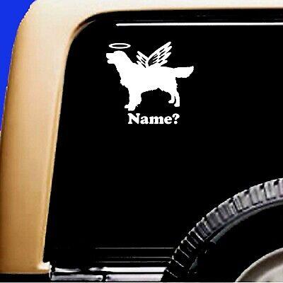 Dog Memorial Golden Retriever Angel Halo Decal Sticker RV Truck Original Design - CA$6.00