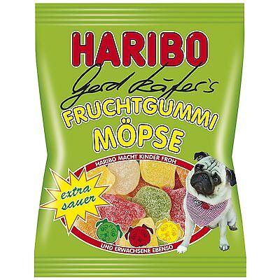 Gummy Bear Haribo (Haribo Gerd Käfer's Pugs - SOUR gummy bears -150g  FREE)
