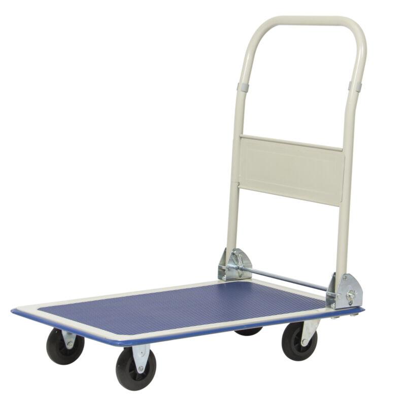 BCP 330lb Foldable Moving Platform Dolly Cart - Blue
