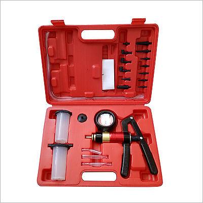 21pc hand held vacuum pressure pump tester brake fluid bleeder bleeding kit set ebay. Black Bedroom Furniture Sets. Home Design Ideas