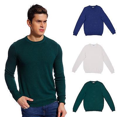 Copperside Mens 100% Cotton Crew Neck Sweater Polo Shirt Pullover Sport 100% Cotton Pullover Sweater