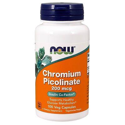 NOW Foods Chromium Picolinate, 200 mcg, 100 Veg - 200 Mcg 100 Capsules