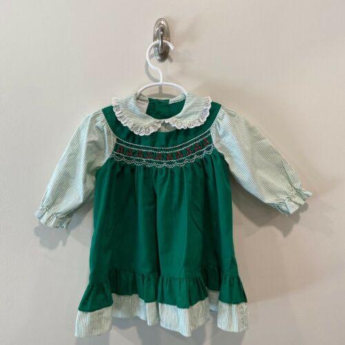 Vintage Polly flinders smocked dress