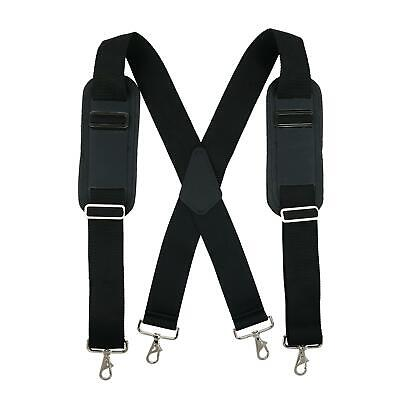 New CTM Men's Big & Tall Padded Work Suspenders with Metal S