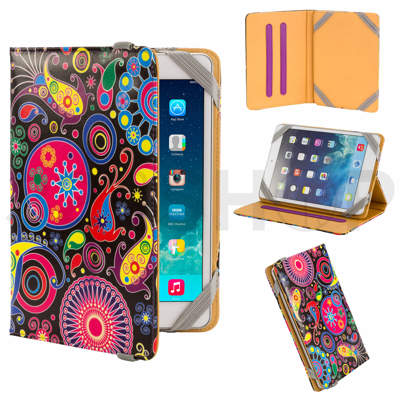 New Pu Leather Universal Tablet E Reader Case Cover Fits