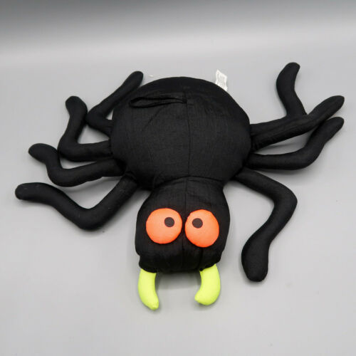 Vintage Halloween Black Spider Plush Plushie Stuffed Decoration 1996 Four Star