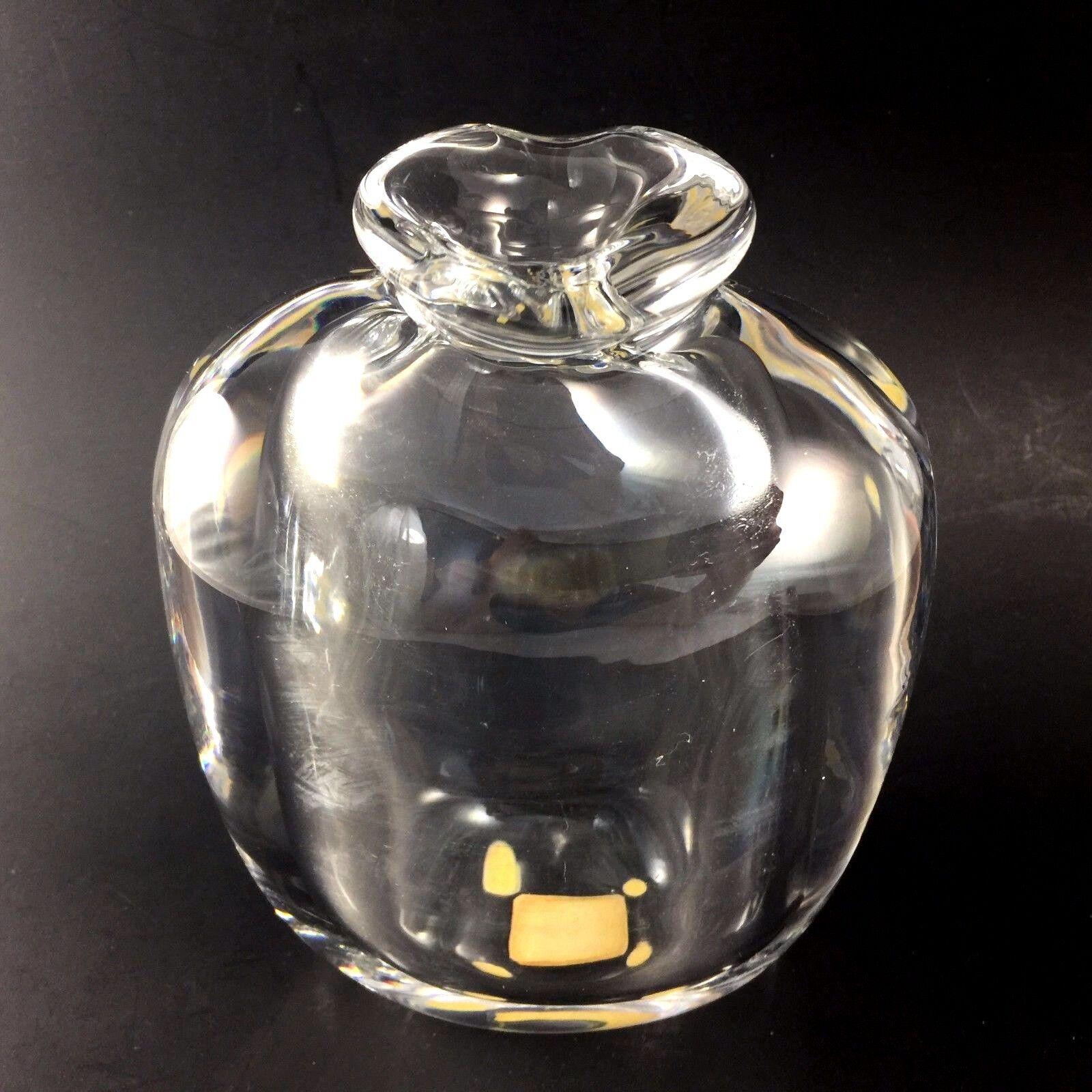 Kosta Boda Crystal Vase Signed Goran Warff Art Glass