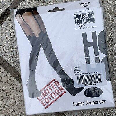 House Of Holland Super Suspender Limited Edition Pretty Polly One Size