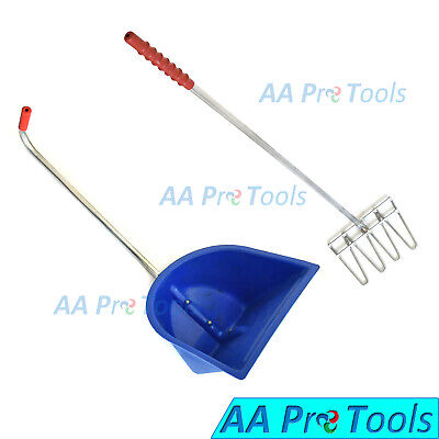 Plastic Dustpan With Rake Stainless Steel Handle Vt-108