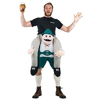 Adult Funny Lederhosen German Bavarian Carry Ride On Fancy Dress Costume - Funny Lederhosen Costume