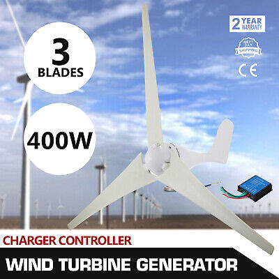 400W  Wind Turbine Generator 20A Charger Controller Home -