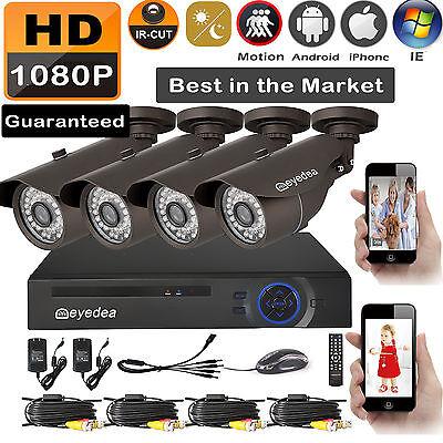 Eyedea 8 CH HDMI DVR 5500TVL 1080P LED Night Vision CCTV Security Camera System
