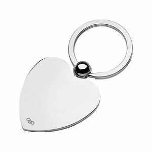 Links of London Womens Heart Disc Keyring Key Ring Silver Plated Jewellery Gift