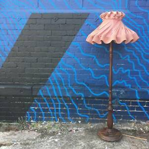 1 x Vintage floor lamps with shades, wood floor lamp WE CAN DELIVER