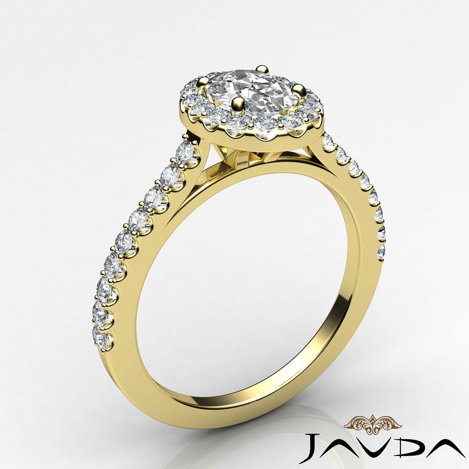 1.6ctw Prong Setting Oval Diamond Engagement Ring GIA H-VS1 White Gold Women New 8