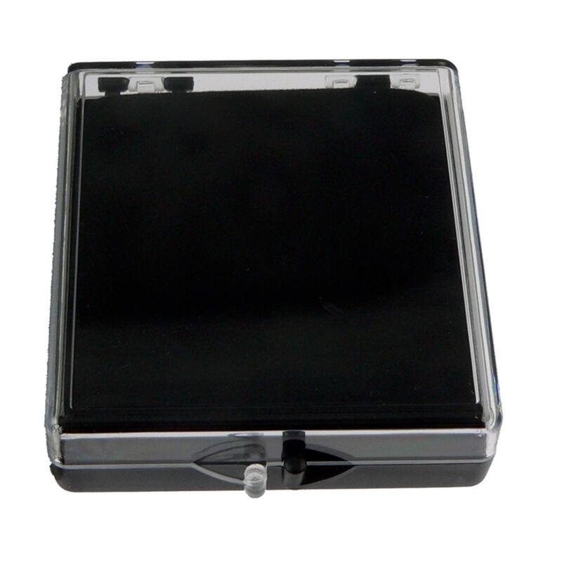 Blank Plastic Pin Presentation Display Case Acrylic Hinged Box  2 3/8 X 2 1/2