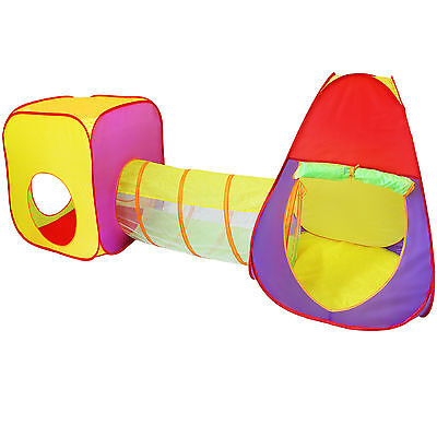 Kinderspielzelt + Krabbeltunnel + Tasche Kinderzelt Bällebad Spielhaus Spielzelt