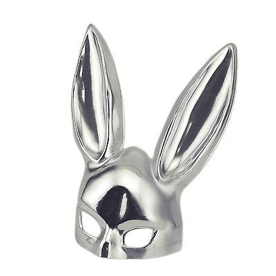 Silver Bondage Bunny Masquerade Kinky Rabbit Mask Costume Halloween - Kinky Halloween Costume