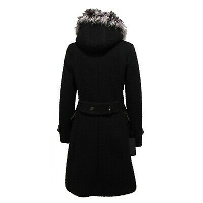 Dettagli su 8692Y cappotto SLIM SLIM FIT donna RRD CASENTINO wool black parka woman