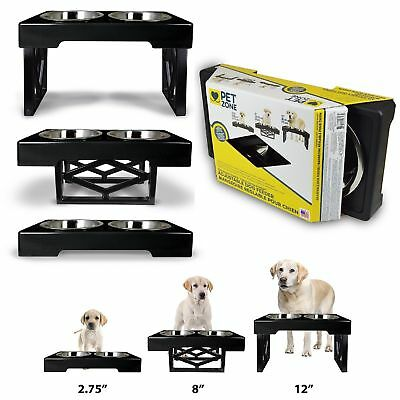 Heavy Duty Puppy Dog Feeding Station Food Bowl Set Feeder Stand Holder Raised
