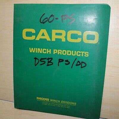 Carco 60-ps Dd Cat D5b Tractor Crawler Winch Service Owner Operator Parts Manual