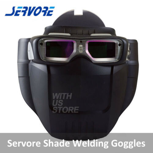 Servore Arc-513 Auto Shade Welding Goggles with Protective Face Shield