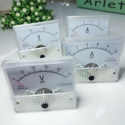 Analog Panel Amp Meter Voltmeter Gauge 85c1 Gb7676 Dc 0-30v50v 0-5a10a Ss0527
