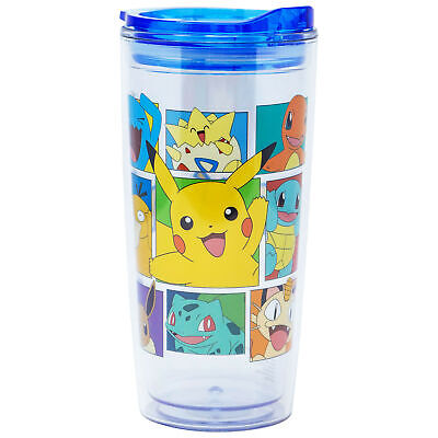 Pokemon 20 Ounce Plastic Travel Mug Clear