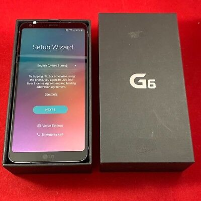 NEW LG G6 32GB Black Verizon Unlocked Smartphone Android GSM VS988 AT&T T-Mobile