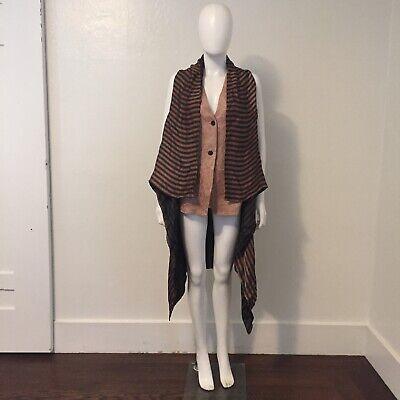 UMA WANG 2016 runway vest striped jacquard artisan Chinese designer avant garde
