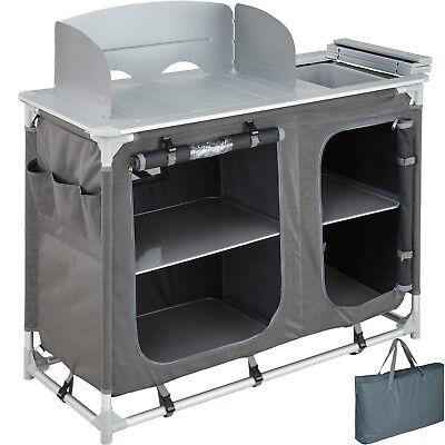 Campingküche Alu Küchenbox Campingschrank Faltschrank faltbar Windschutz Vorzelt Camping Küche