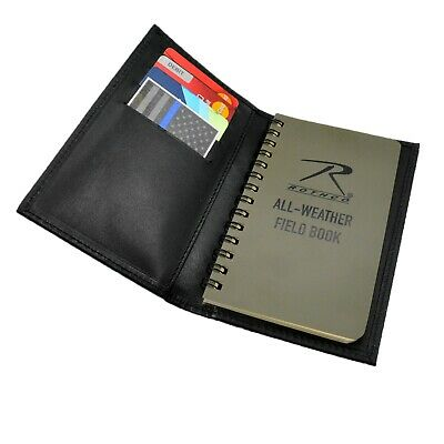 Police Leather Pocket Notebook All Weather Notepad Waterproof Memo Book 3x5