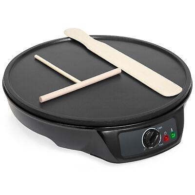 BCP 12in Non-Stick Pancake Crepe Maker w/ Spatula, Spreader