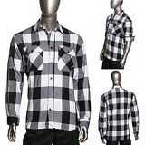 HG Mens Brawny Buffalo Plaid Flannel Shirt