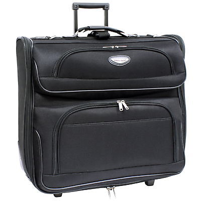 AMSTERDAM FOLDING LOCKING ROLLING GARMENT TRAVEL BAG CARRY-ON SUITCASE NEW
