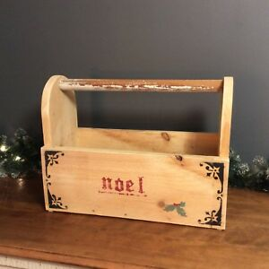 Christmas old wooden tool box