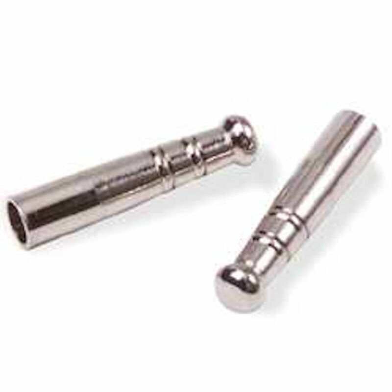 Bolo Tips Pair Tandy Leathercraft Nickel Plate 1 Inch 11233-00
