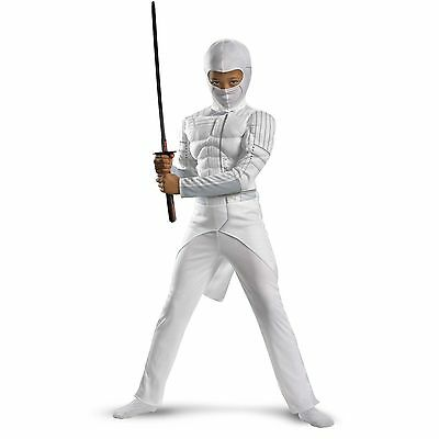 NEW! GI Joe STORM SHADOW Classic Muscle Boys Halloween Dress Up Costume Size S 6](Gi Joe Storm Shadow Halloween Costume)