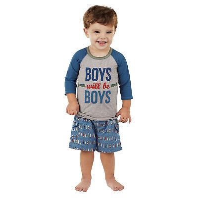 Jungen Rash Guard Shirt (Mud Pie E7 Baby Kleinkind Junge Rash Guard T-Shirt - Jungen Werden Jungen)