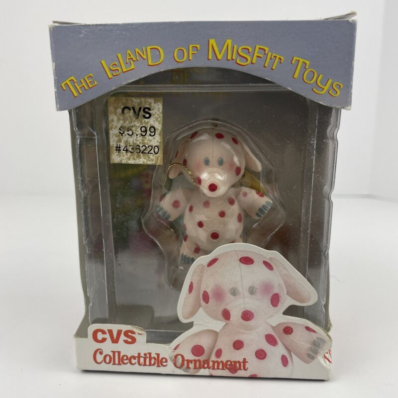 Spotted Elephant Rudolph Island Of Misfit Toys Ornament Enesco 1999 CVS Box Flaw