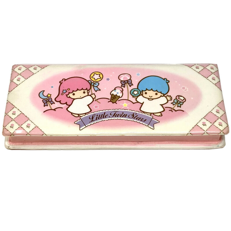 Vintage Sanrio 1988 Little Twin Stars Rare Padded Double Pencil Case