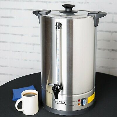 110 Cup Electric Commercial Coffee Machine Urn Brewer Warmer Cool-touch