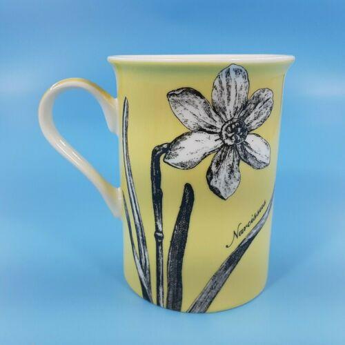 Victorian Engraving Collection Coffee Or Tea Cup Fine Bone China Yellow 10oz Mug