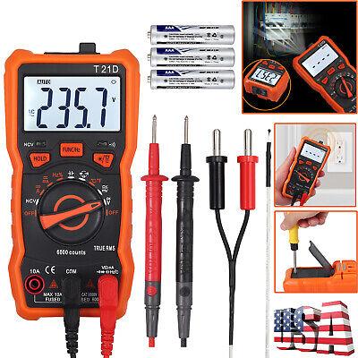 Digital Multimeter Ac Dc Voltmeter Ammeter Ohmmeter Auto Range Lcd Tester Meter