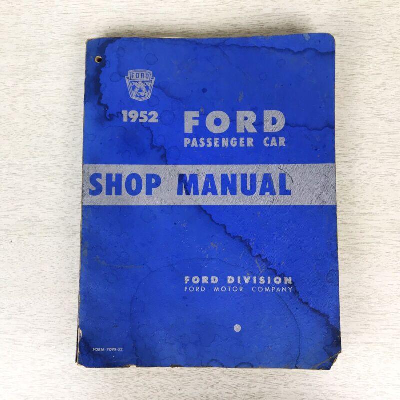 Vintage 1952 Ford Passenger Car Service Shop Repair Manual Mainline Crestline
