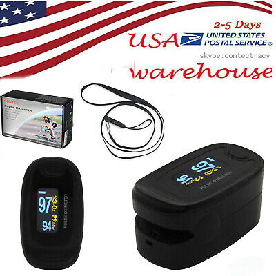 Usa Oximeter Finger Fingertip Blood Oxygen Spo2 Pulse Heart Rate Oled Monitorce