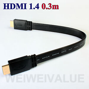 short-0-3m-V1-4-HDMI-cable-High-Speed-HD-w-Ethernet-3D-1080P-DVD-HDTV-1ft-30cm